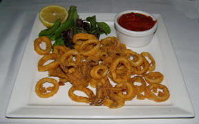 Calamari Fritti - 75 Main Restaurant Lounge Club, Southampton, Long Island, New York - Photo by Luxury Experience